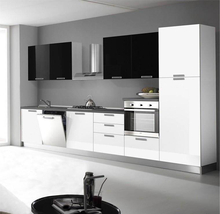 Cocinas blancas y negras 50 ideas geniales a considerar - Camera bianca e nera ...