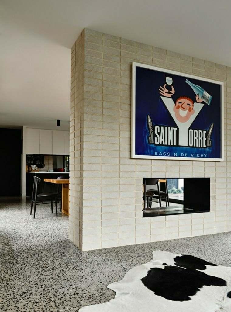 ideas creativas cuadro pared preciosa ladrillo moderno