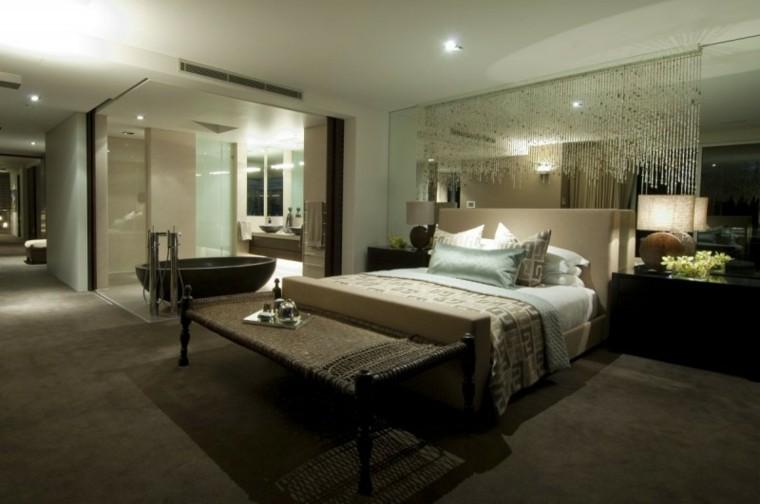 ideas creativas pared espejo dormitorio moderno bonito