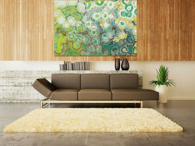 ideas creativas pared madera cuadro decorativo precioso ideas