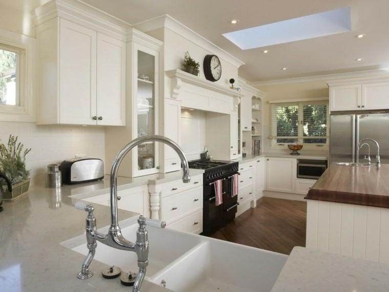 ideas decorar cocina blanca moderna
