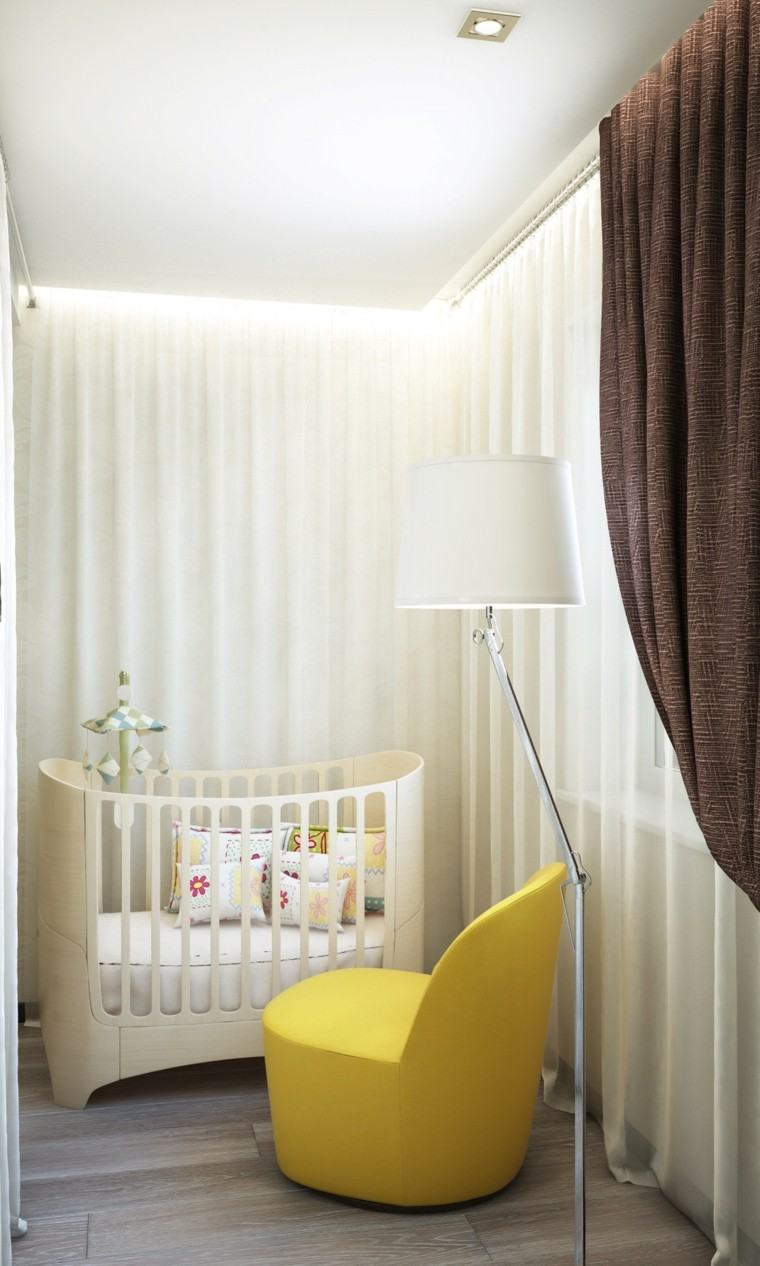 ideas para habitaciones de bebe espacios pequenos moderna