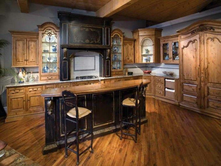 diseños de cocinas clasicas madera