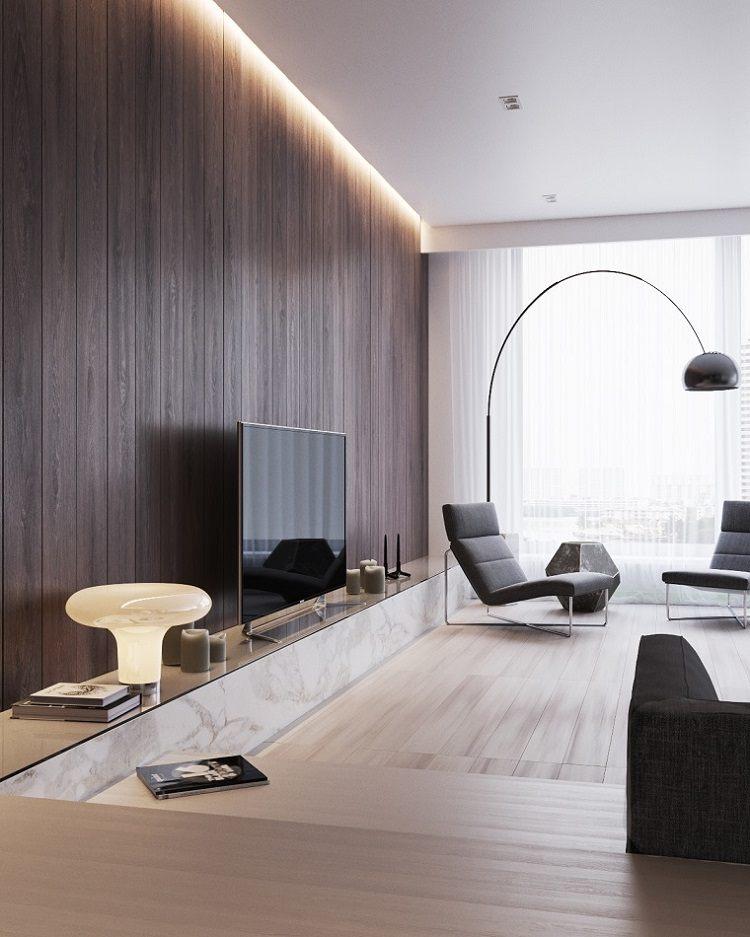 Techos modernos con luces led integradas 50 ideas for Iluminacion para departamentos modernos