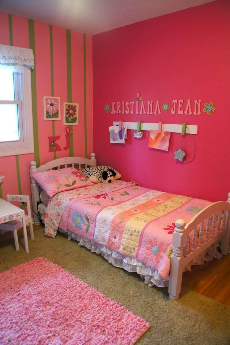 infantil niña habitacion alfombra letras
