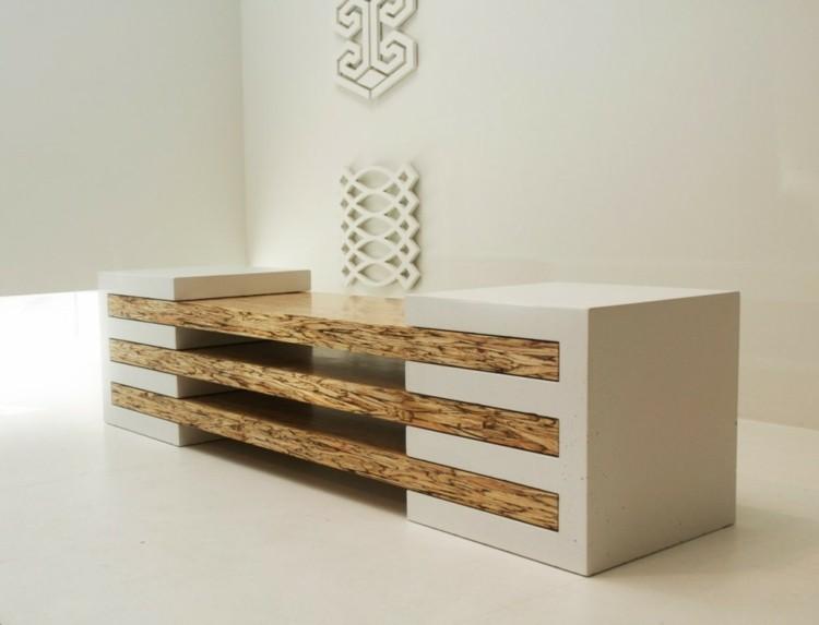 interesante diselño mueble salon estantes