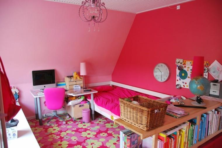 interesante flores silla computadora rosa