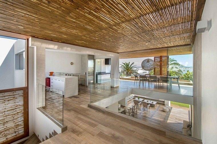 interior cocina comedor diseño cañas