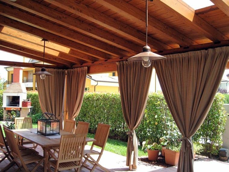 Cenadores con cortinas treinta y ocho ideas - Cortinas pergola ...