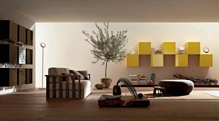 interiores de casas modernas mueble amarillo