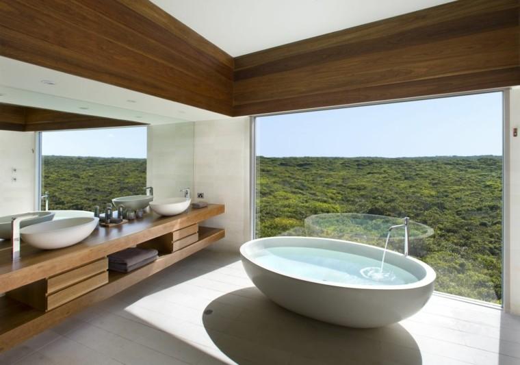 interiores de casas modernas baño bañera
