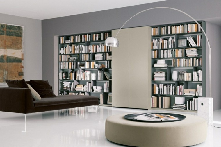 interiores de casas modernas mueble biblioteca