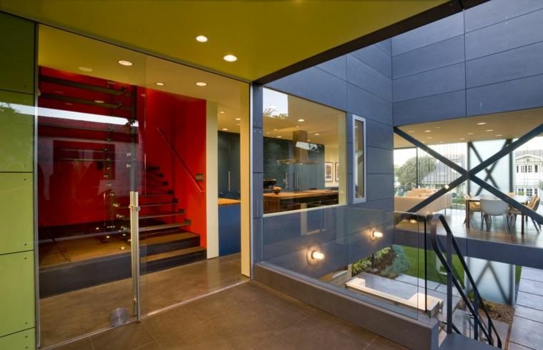 interiores de casas modernas pasillo colores