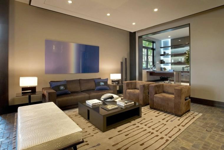 interiores de casas modernas muebles salon