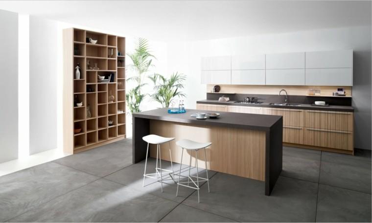 Barras de cocina de dise o moderno 50 ideas for Cocina blanca encimera negra