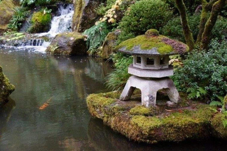jardín japonés elementos decorativos precioso casita ideas