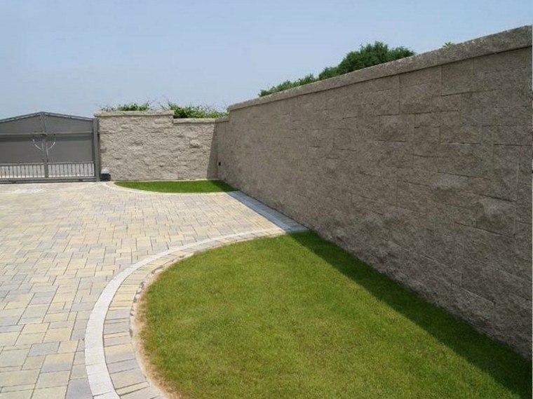 jardin losas cesped suelo balla piedra alta ideas