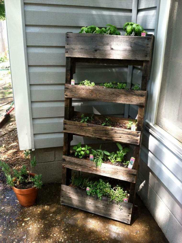 jardinera plantas DIY muebles madera
