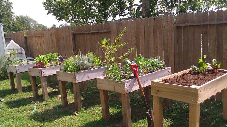 jardineras altas palets madera