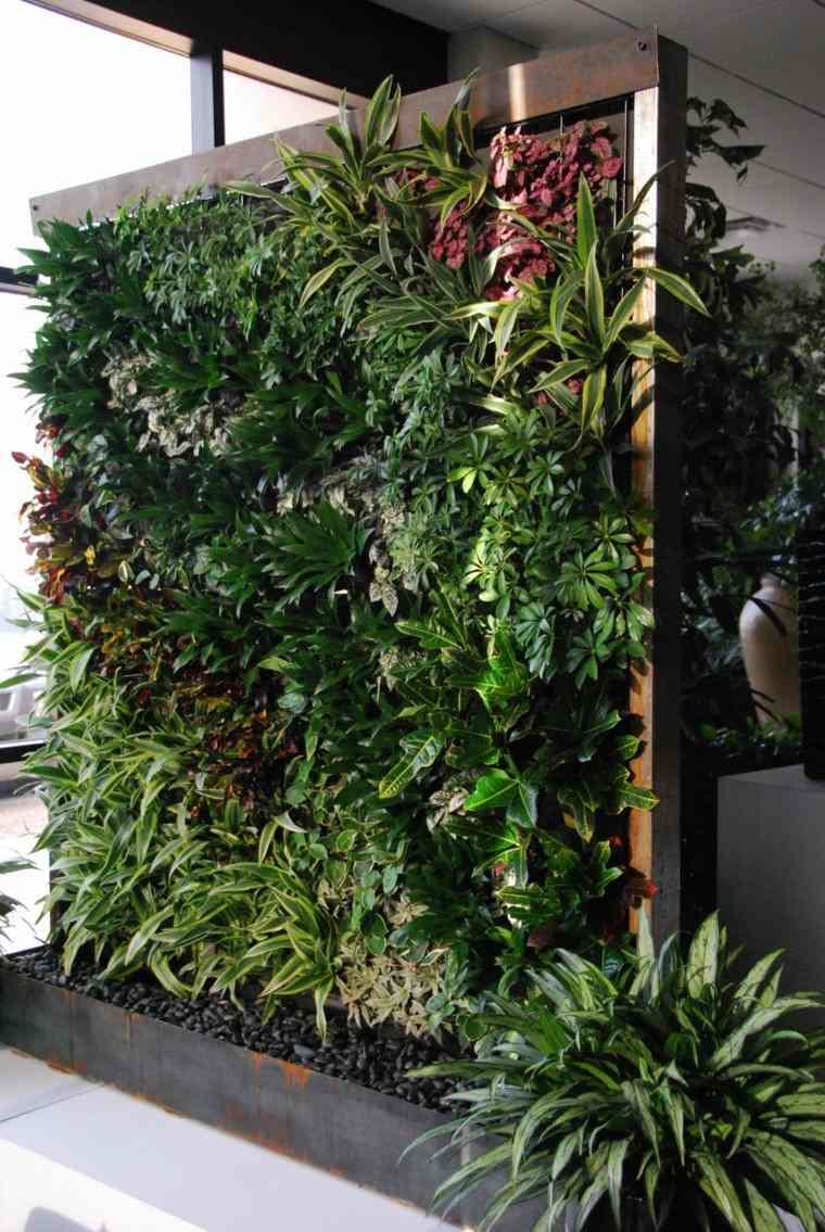 jardines diseño vertical acero corten plantas