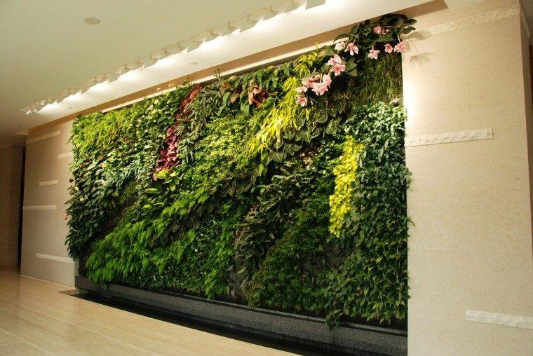 jardines diseño vertical elegante interiores luces