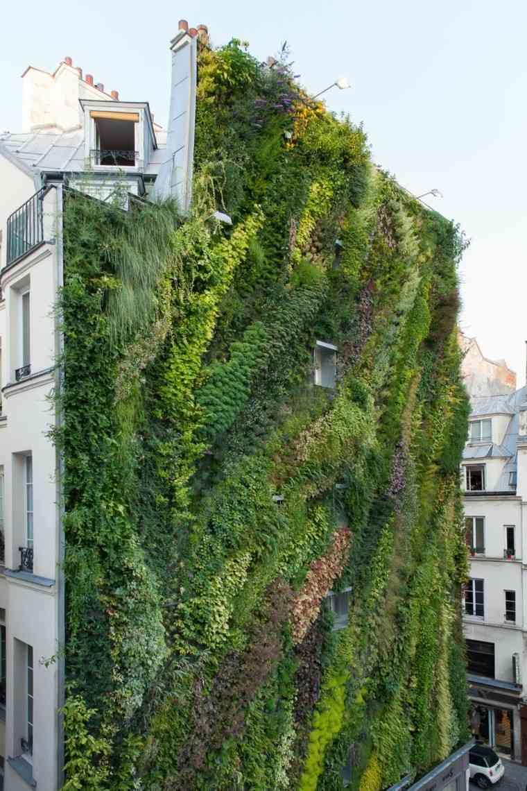 jardines diseño vertical fachada edificio altura