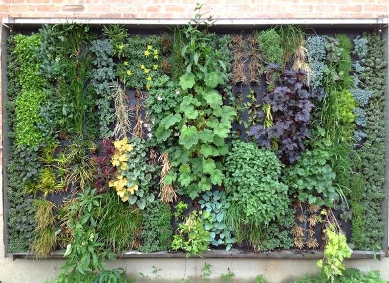 jardines diseño vertical ladrillo rojos exterior