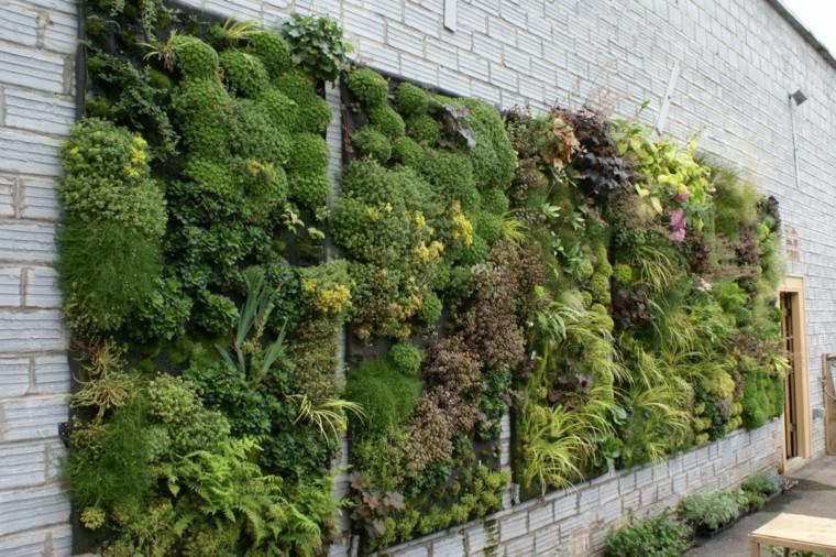 jardines diseño vertical ladrillos muro entrada