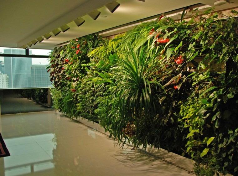 jardines diseño vertical lamparas focales moderno
