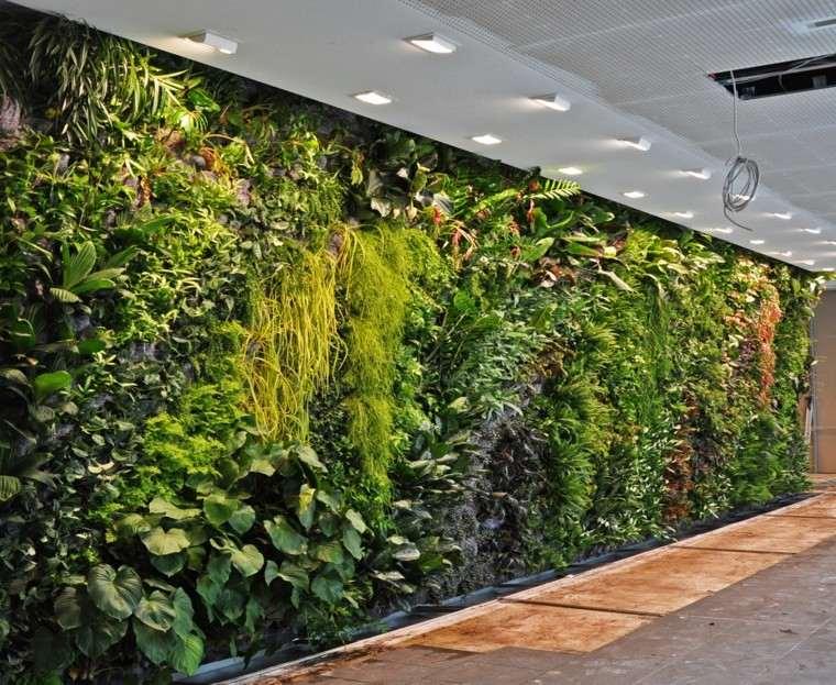 jardines diseño vertical pasillo salon led