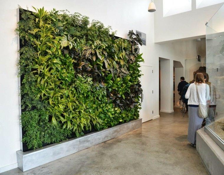 jardines diseño vertical personas publico mujer