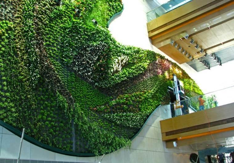 jardines diseño vertical salon amplio ondulado