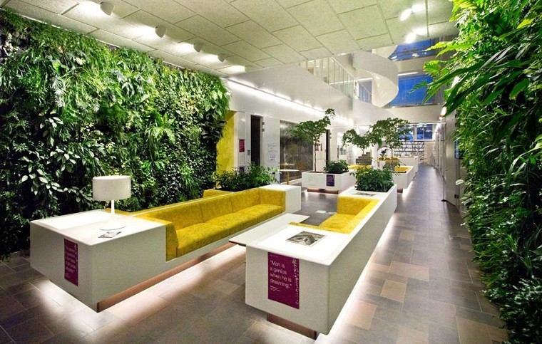 jardines diseño vertical sofa plantas led