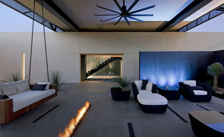 patio interior cincuenta ideas modernas para decorarlo ForPatios Interiores Modernos Fotos