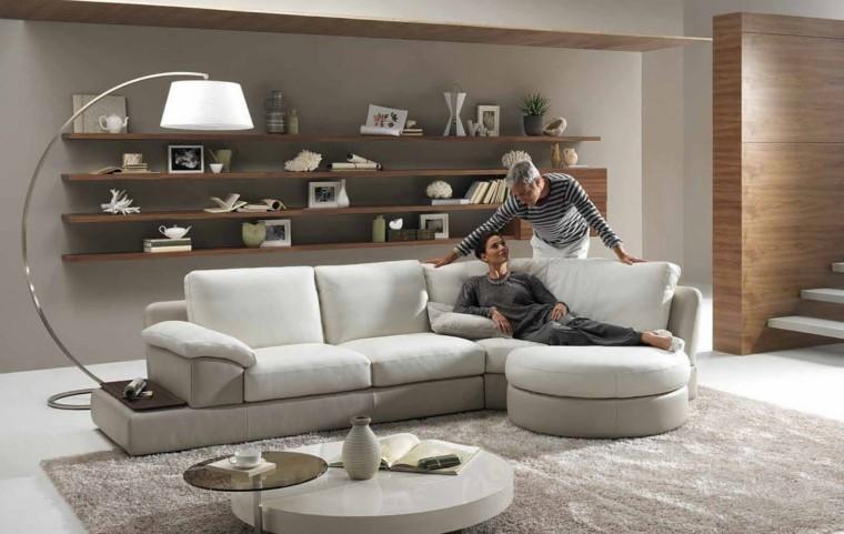 lampara blanca mueble estante pareja