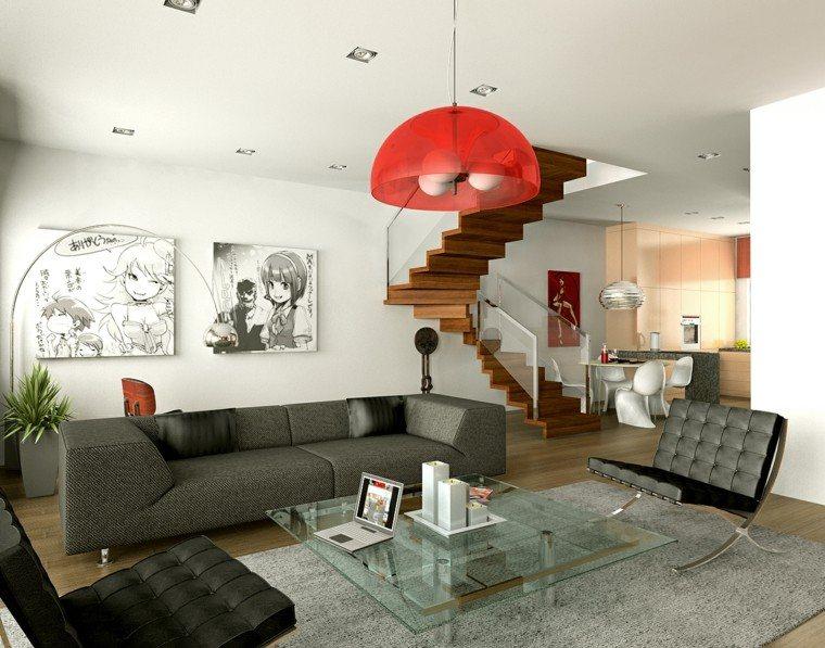 lampara blanca mueble manga rojo