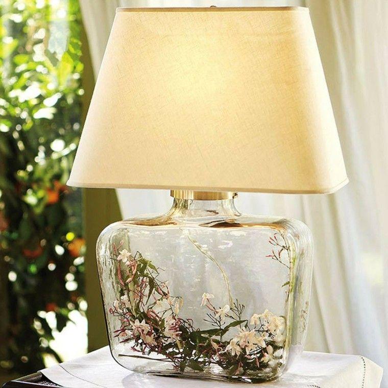 lampara flores cristal preciosa mesita noche ideas
