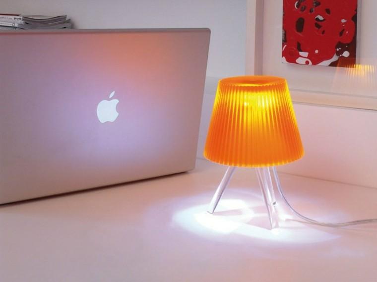 lampara pequena mesita noche color naranja ideas
