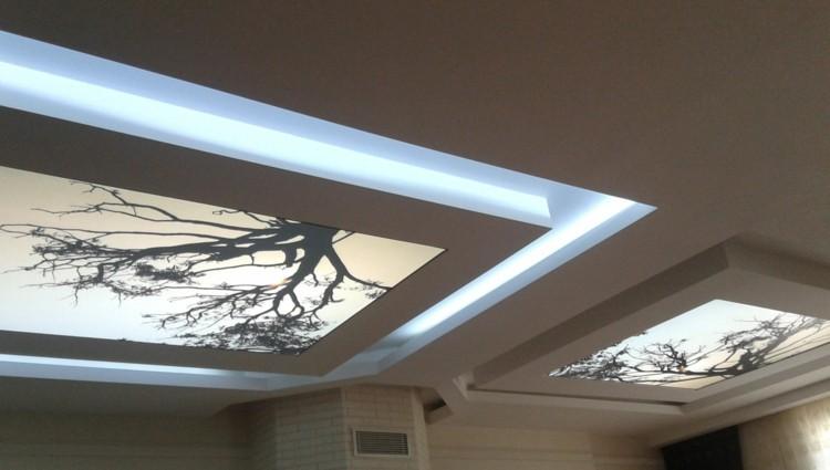 lamparas diseño techo arboles led
