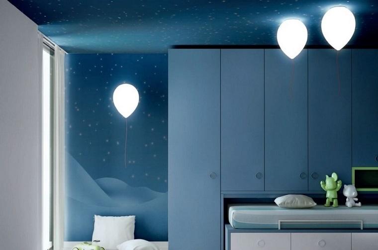 lamparas originales habitacion nino globos ideas