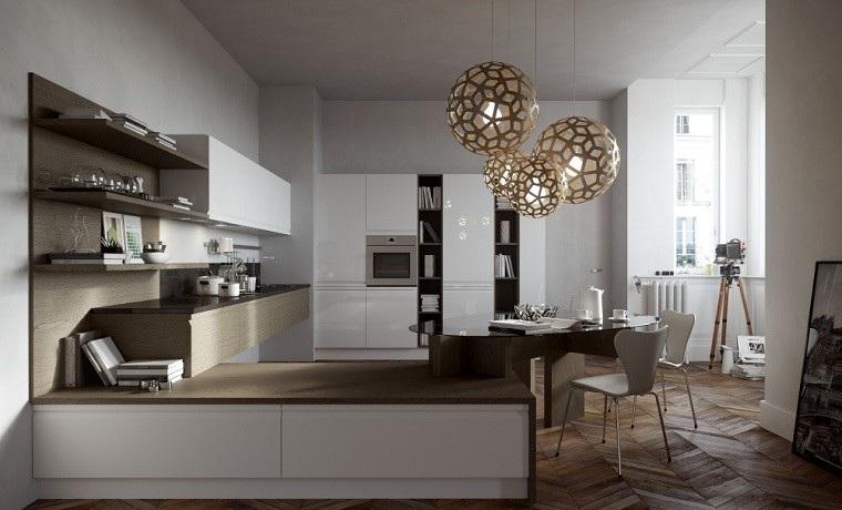 lamparas preciosas mesa cristal sillas blancas ideas