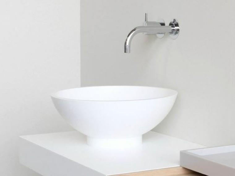 lavabo color blanco diseño himacs