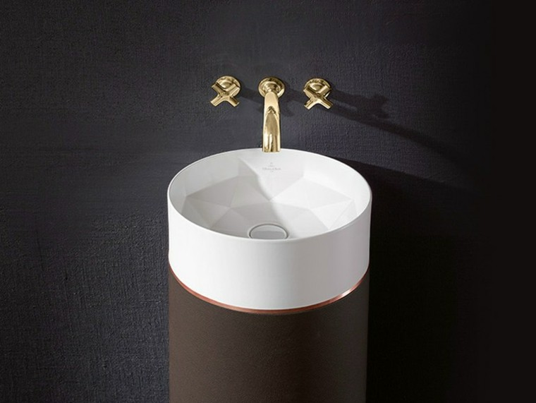 lavabo diseño octagon redondo moderno