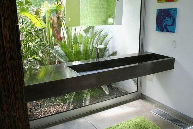 lavabo estrecho largo jardin