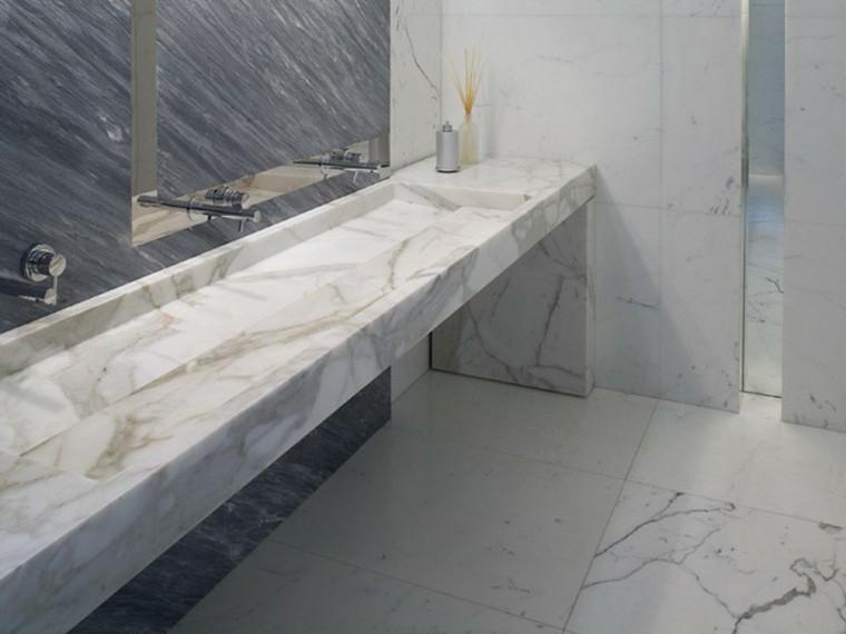 Lavabos de dise o moderno 38 modelos espectaculares - Lavabos de marmol para bano ...