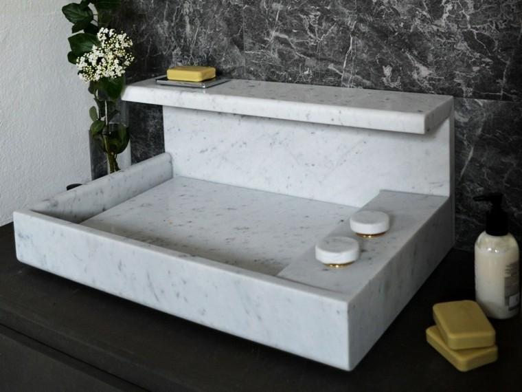lavabo marmol grifos redondos marmol with lavabos de marmol para bao