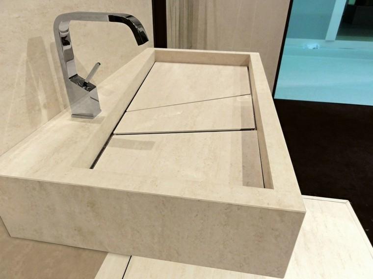 lavabo marmol travertino color beige
