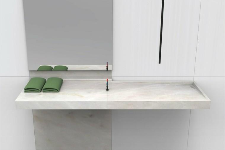 Muebles Para Baño Recubre:lavabo de mármol de estilo minimalista