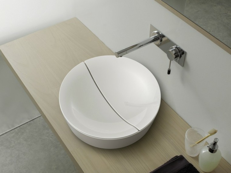lavabo redondo franja apertura centro