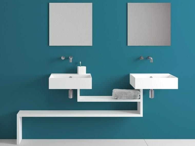 mueble lavabo suspendido modelo basica